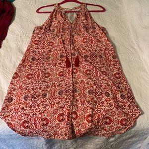 C&E red dress